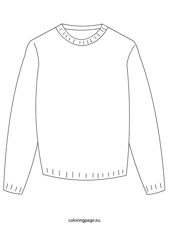Winter - Sweater | Coloring Page
