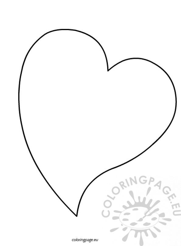heart shape coloring pages - photo#28