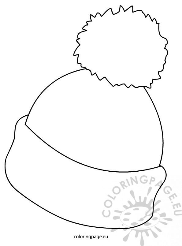 It's just a graphic of Sweet Winter Hat Coloring Page