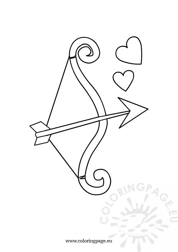 Bow and arrow Coloring Page
