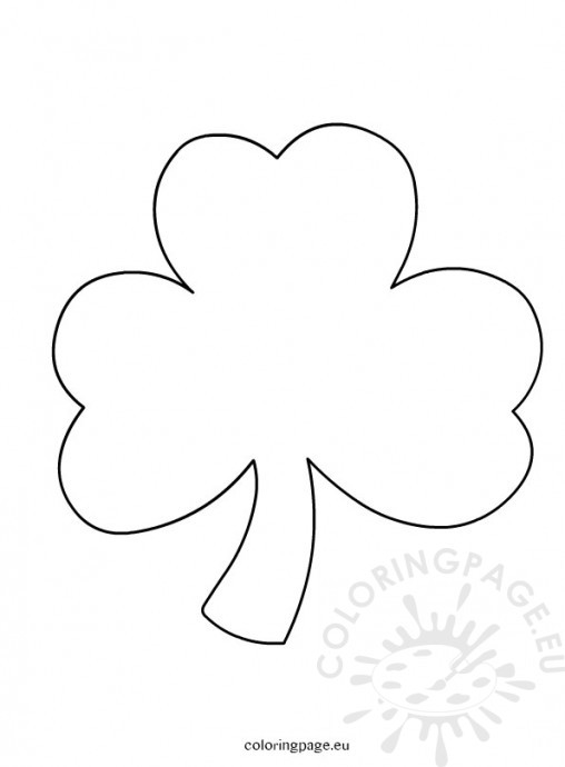 Coloring pages preschool coloring pages of to shamrock for Clover coloring pages printable