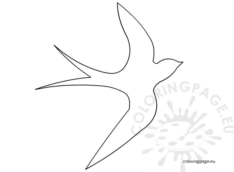 Swallows And Fast Colouring Pages