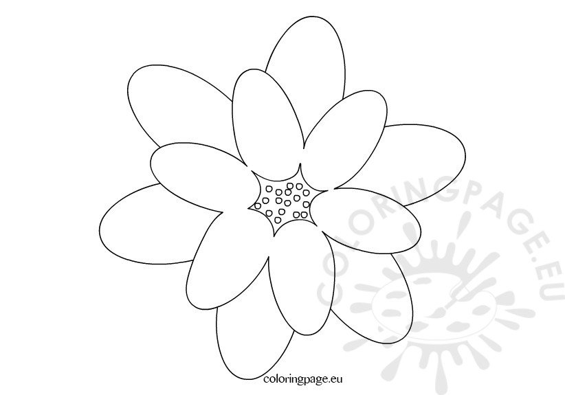 black and white flower  u2013 coloring page