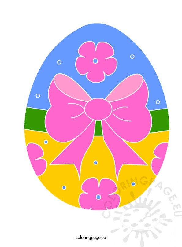 Easter egg clipart | Coloring Page