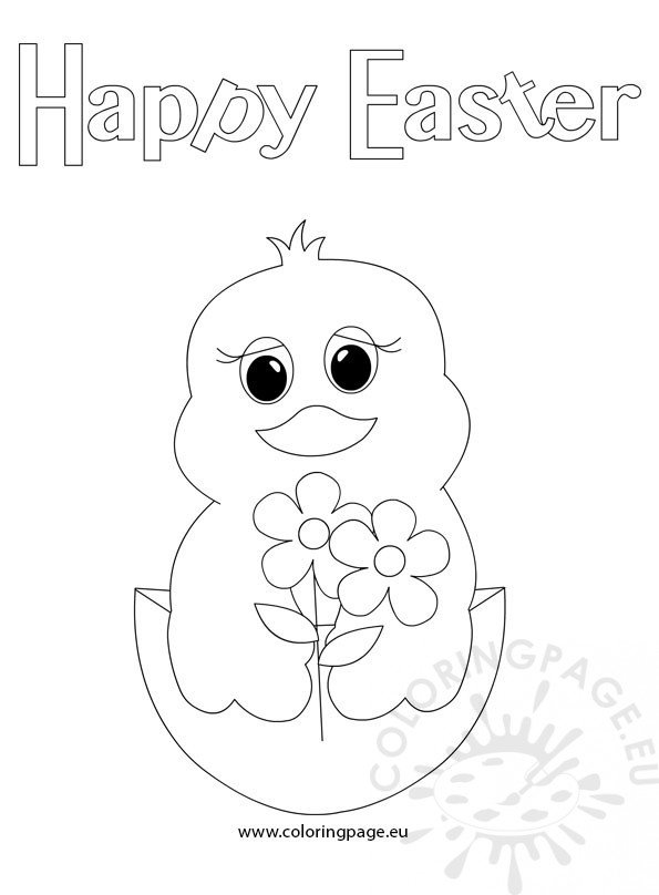 happy easter chick coloring pages - photo#3