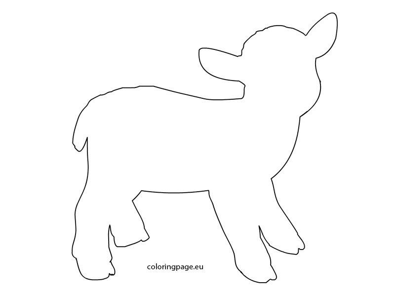 Lamb template - Coloring Page