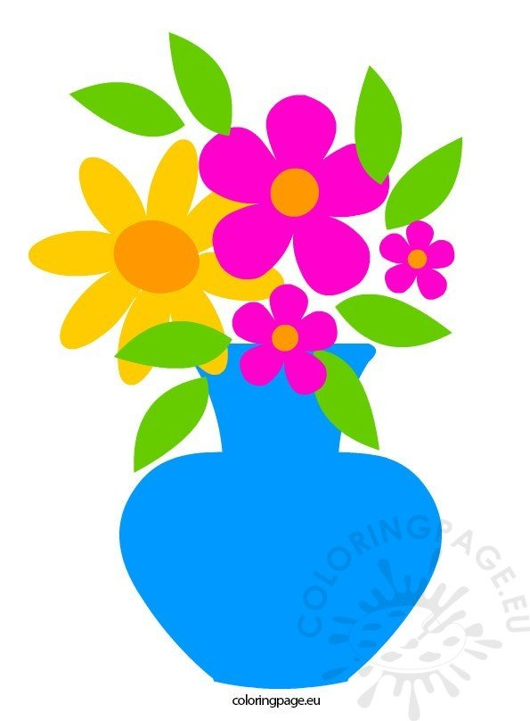 Flowers in Vase | Coloring Page