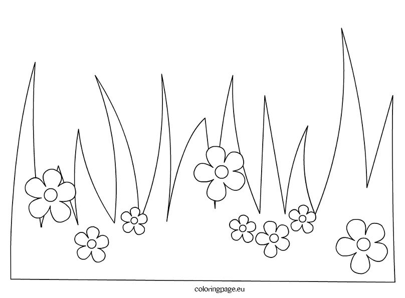 grass coloring pages - photo#5
