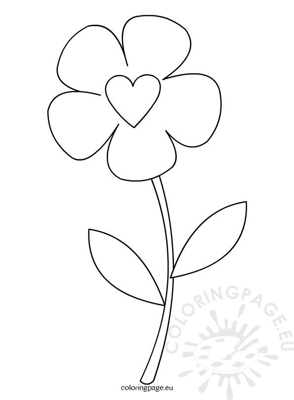 Preschool Flower Template  Coloring Page