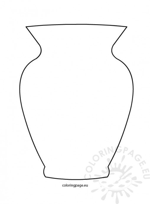 Flower Vase Coloring Page #7
