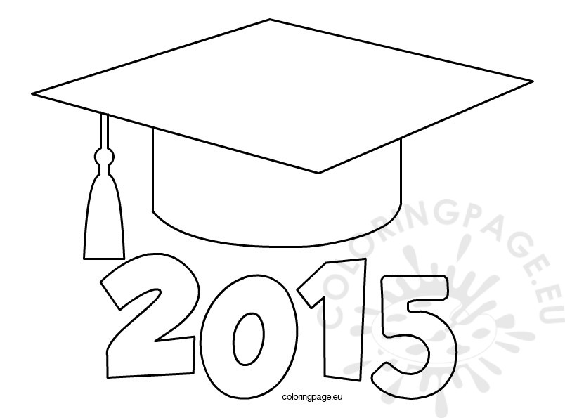 graduation cap 2015 coloring page