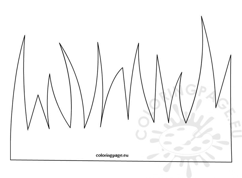 Grass Template Coloring Page