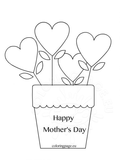 Mother 39 s day coloring page for Happy mothers day coloring page