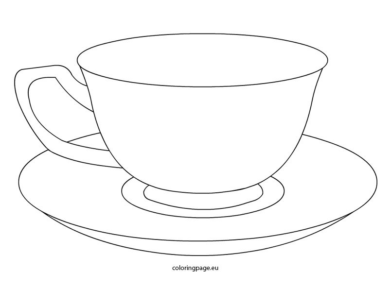 graphic about Teacup Template Printable referred to as Tea cup Coloring Web site
