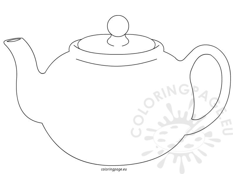 teapot coloring pages for kids coloring page. Black Bedroom Furniture Sets. Home Design Ideas