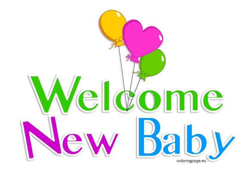 Welcome New Baby - Coloring Page