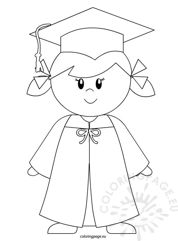 It is a graphic of Enterprising Preschool Graduation Coloring Pages
