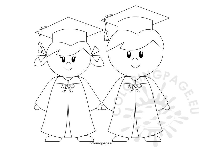 Kindergarten Graduation Coloring Page For Preschool