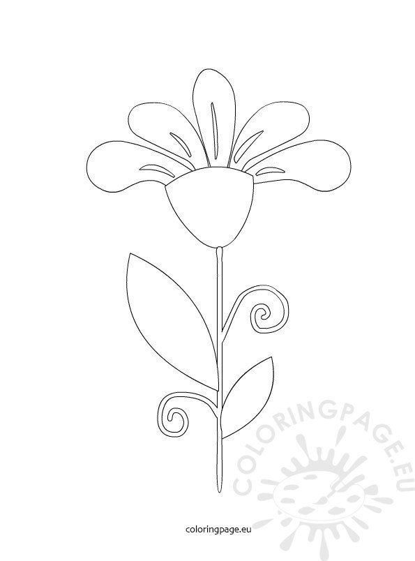coloring pages flower petals - photo#18