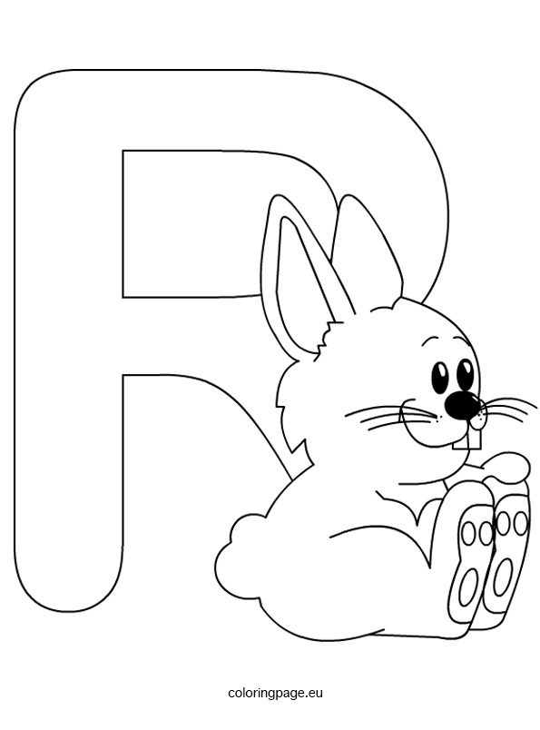 Letter r coloring page for Letter r coloring page