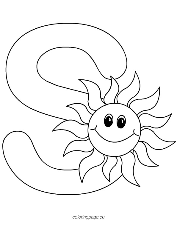 Letter S | Coloring Page