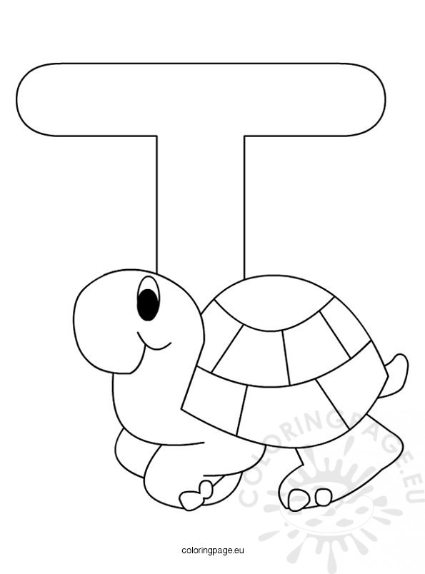 Christmas Coloring Pages Letters T Coloring Pages Letter T Coloring Page