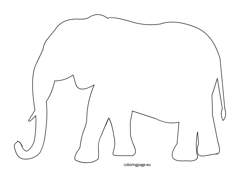 image relating to Elephant Outline Printable known as Elephant Template Coloring Website page