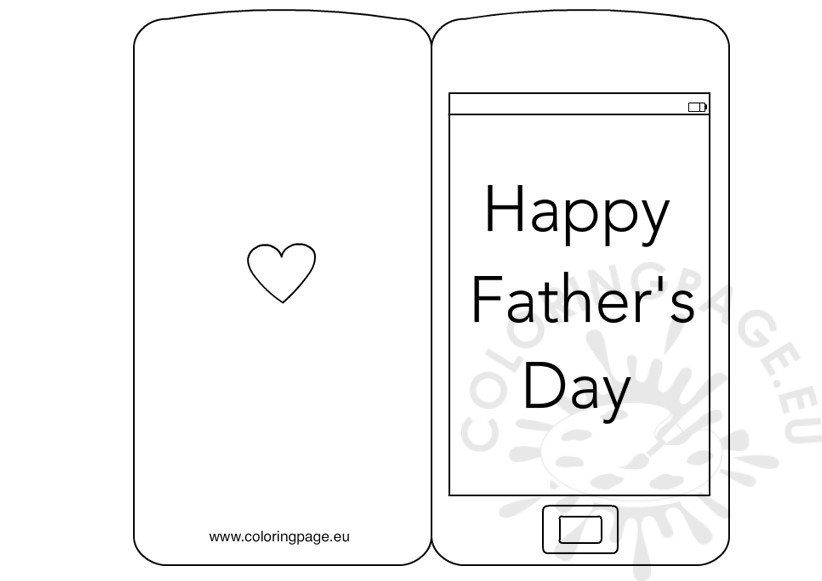 fathers day card coloring pages - photo#33