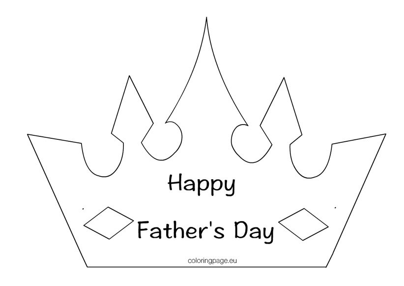King Dad Crown Coloring Page