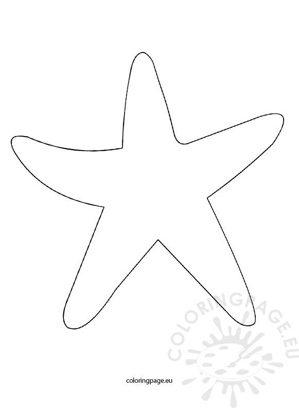 Starfish Template Coloring Page Starfish Coloring Page