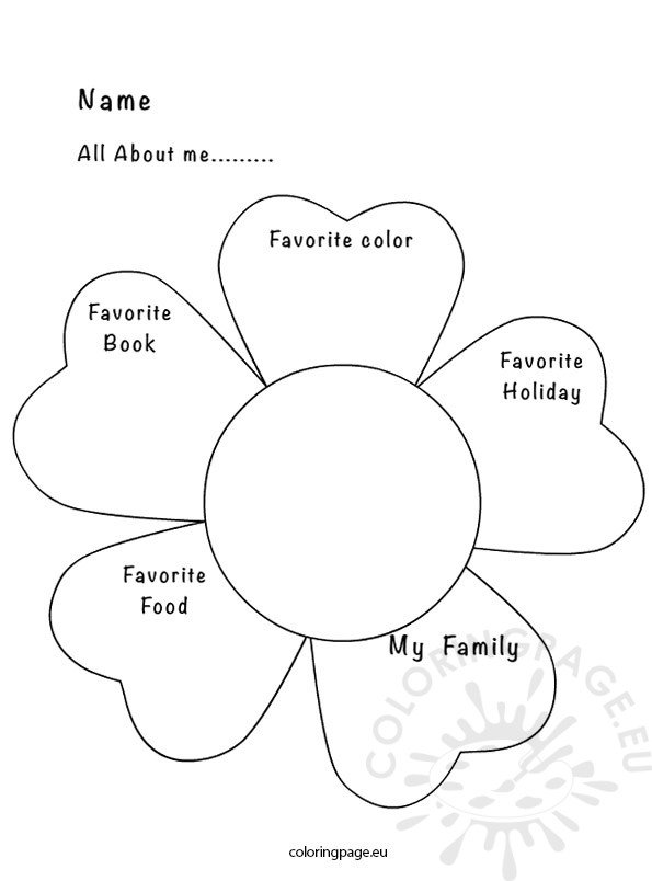 Sizzling image with all about me page printable