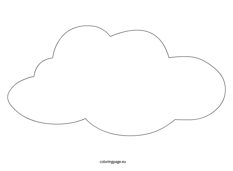 Cloud vector Coloring Page