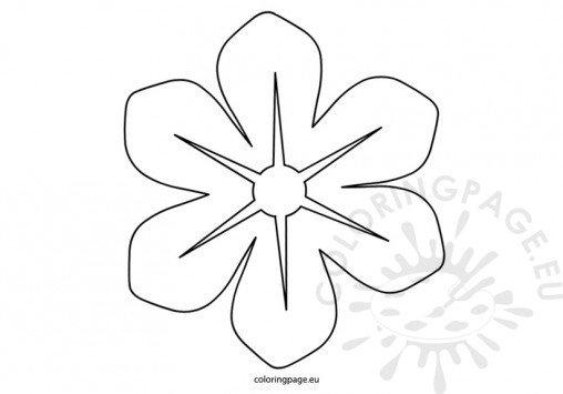 Felt flower pattern for Felt coloring pages