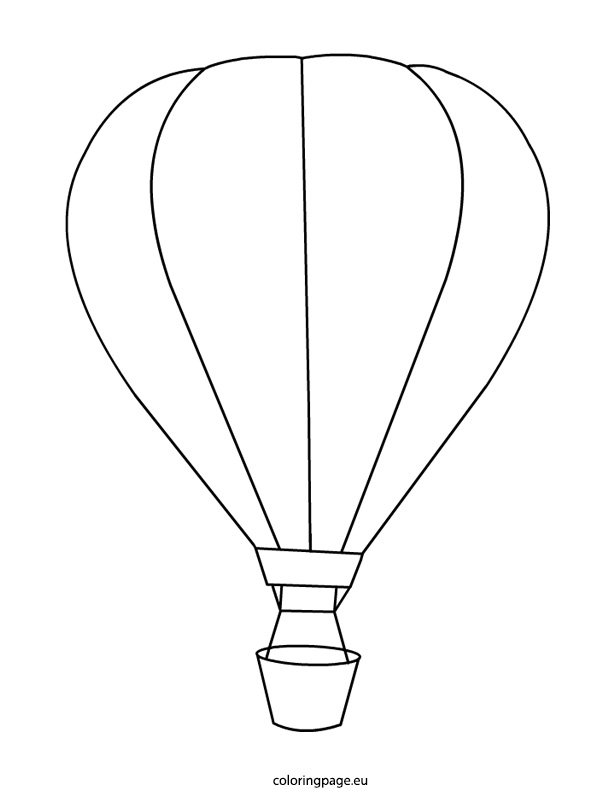 Hotair balloon coloring page