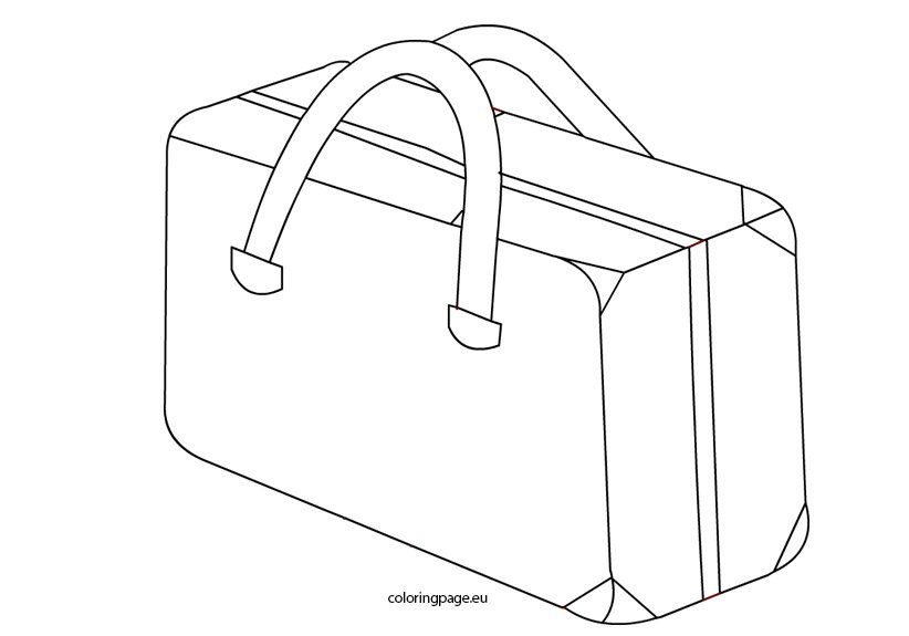 suitcase picture coloring page