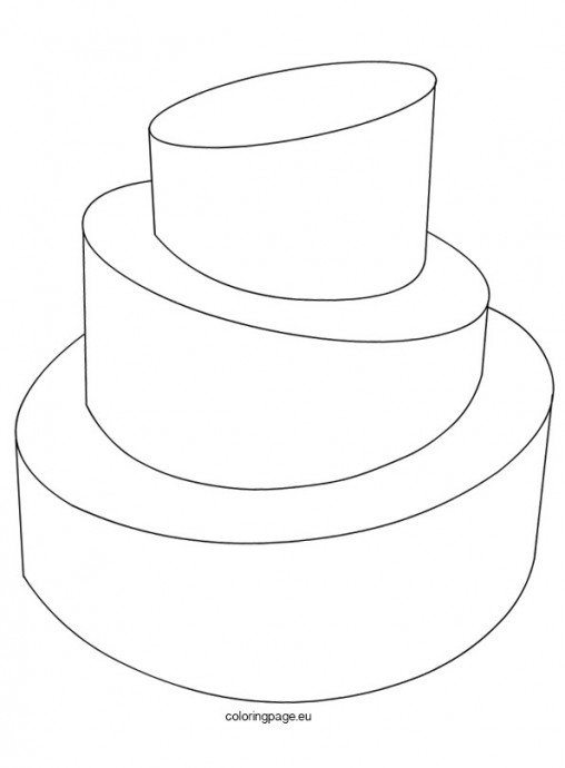 wedding cake template print birthday coloring page 26237