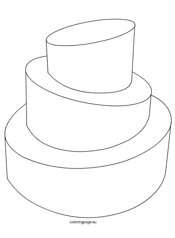 Colouring In Pages Wedding : Wedding cake template coloring page