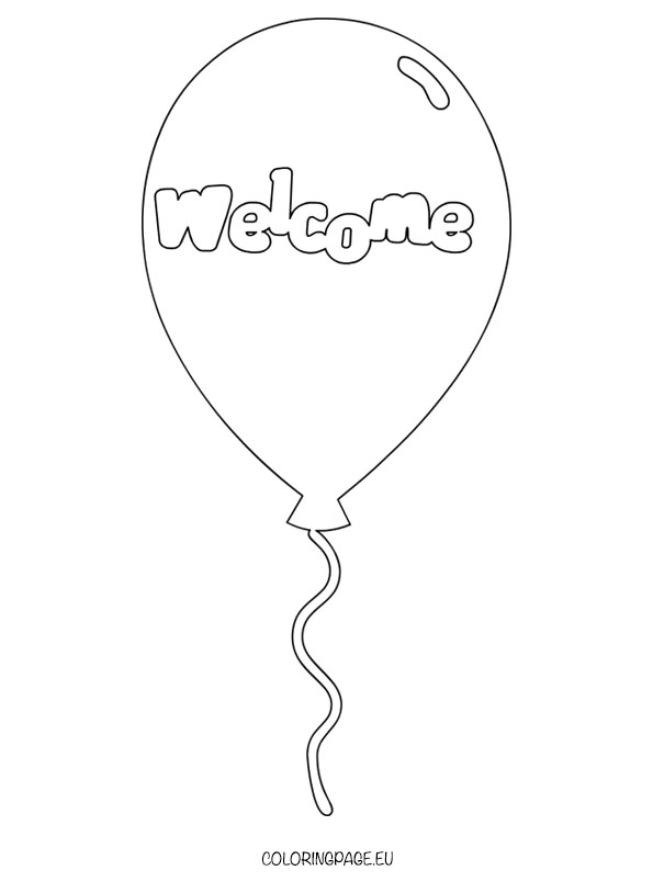 Wele Balloon coloring page