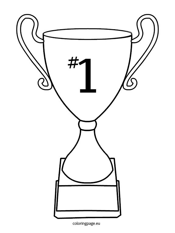 Cup trophy - Coloring Page