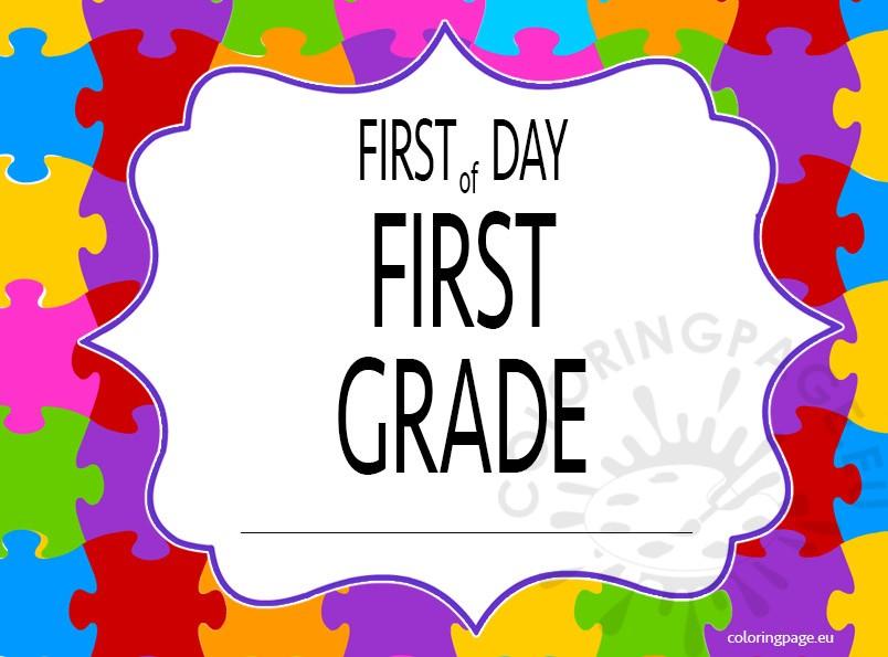 first-day-first-grade