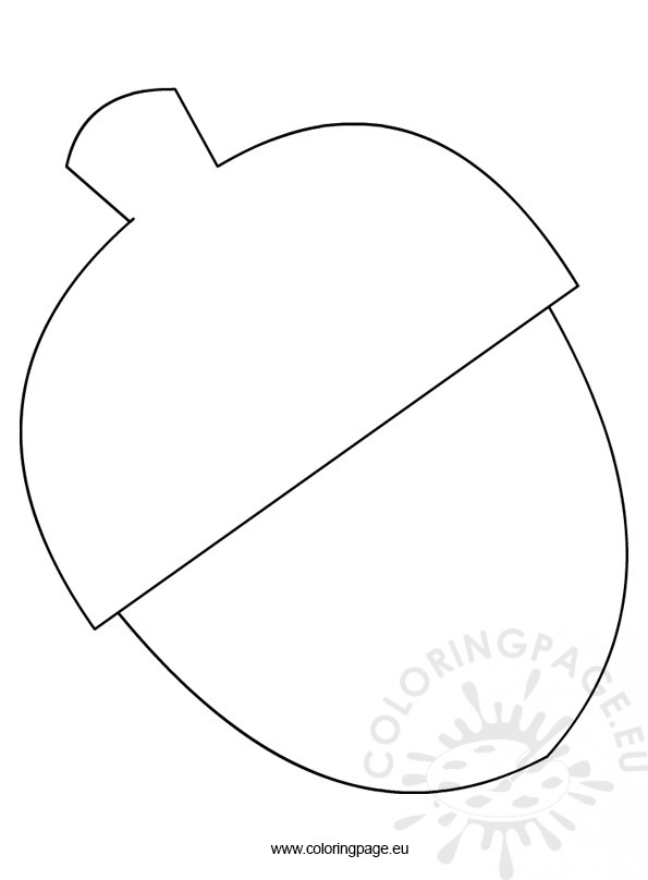 Free acorn template Coloring