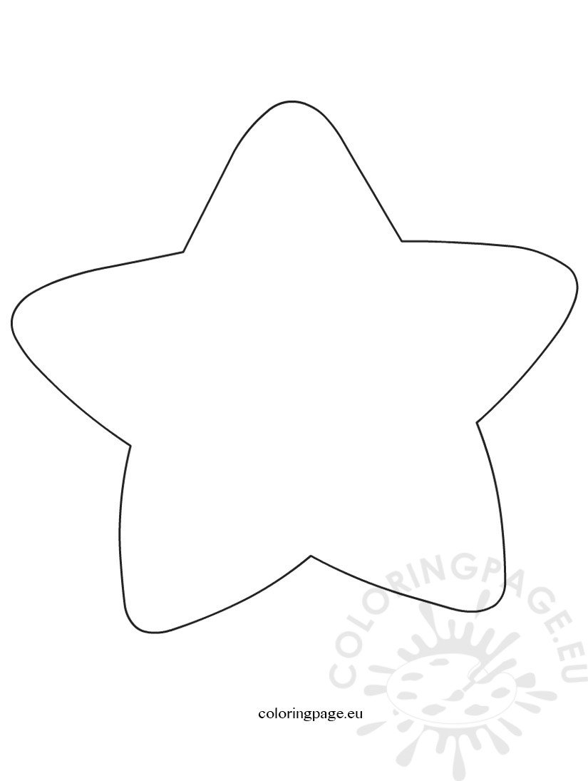 large printable star coloring pages - photo #12