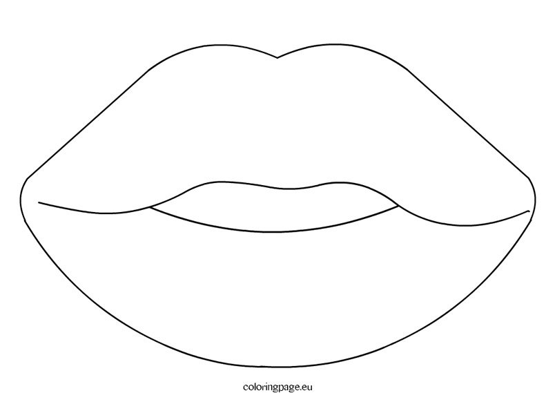 fish mouth template - sense organs mouth coloring page