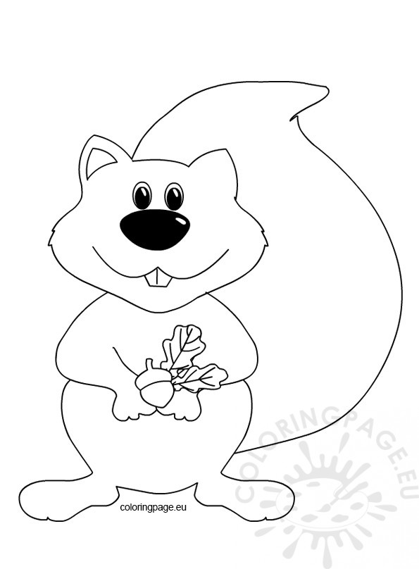 free coloring pages for squrrils - photo#45
