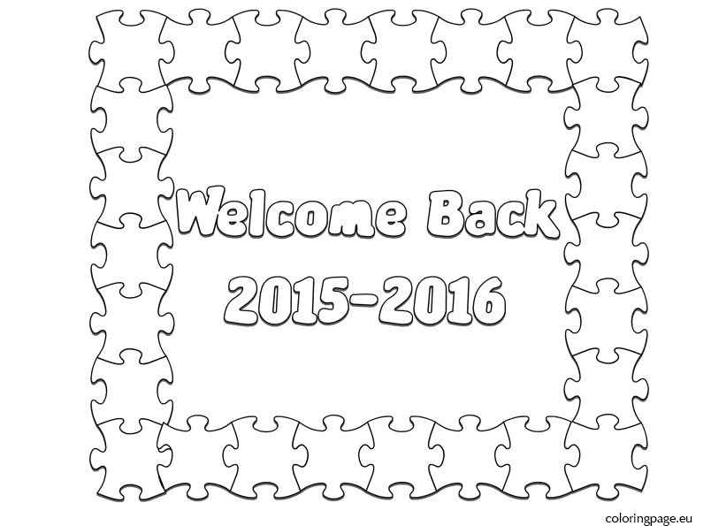 welcome back 2015 2016 coloring page - Welcome Back To School Coloring Pages
