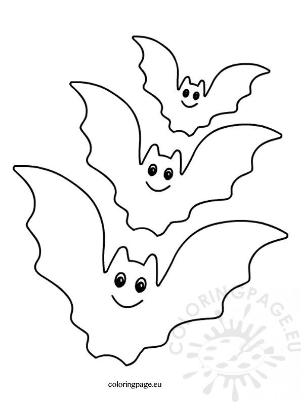 spooky bat coloring pages - photo#4