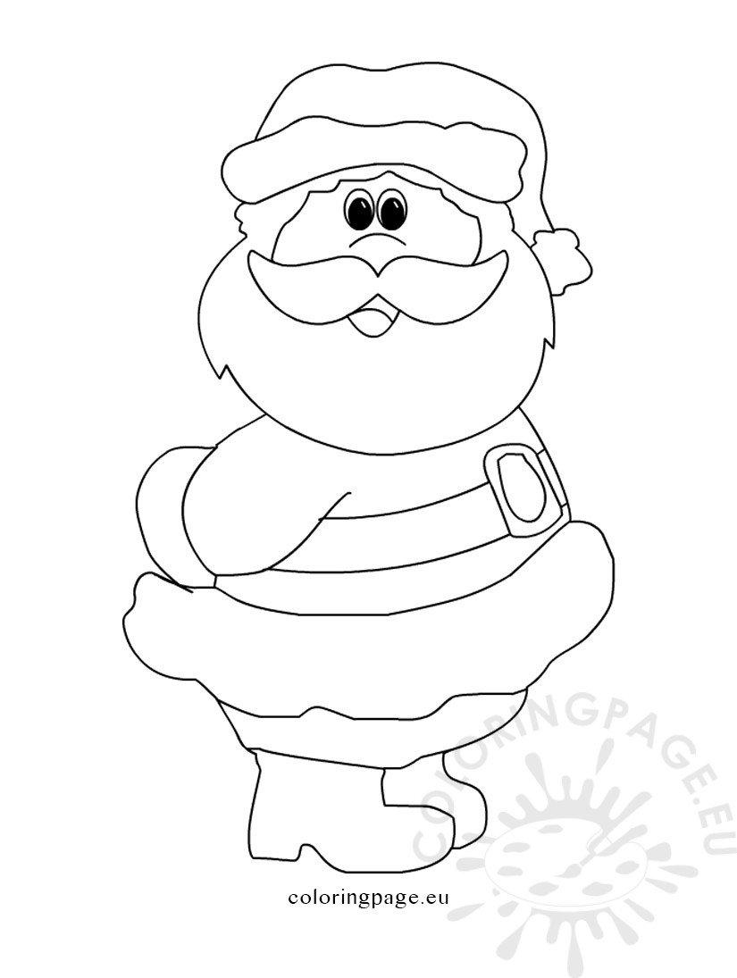 Printable Santa Claus | Coloring Page