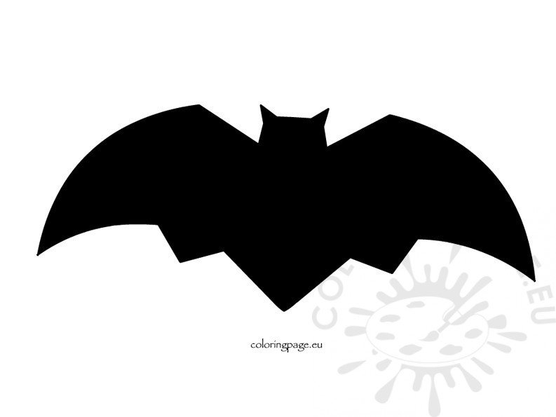 Halloween Bat Decoration Coloring Page