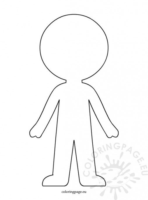 People coloring page for Paper doll templates cut out