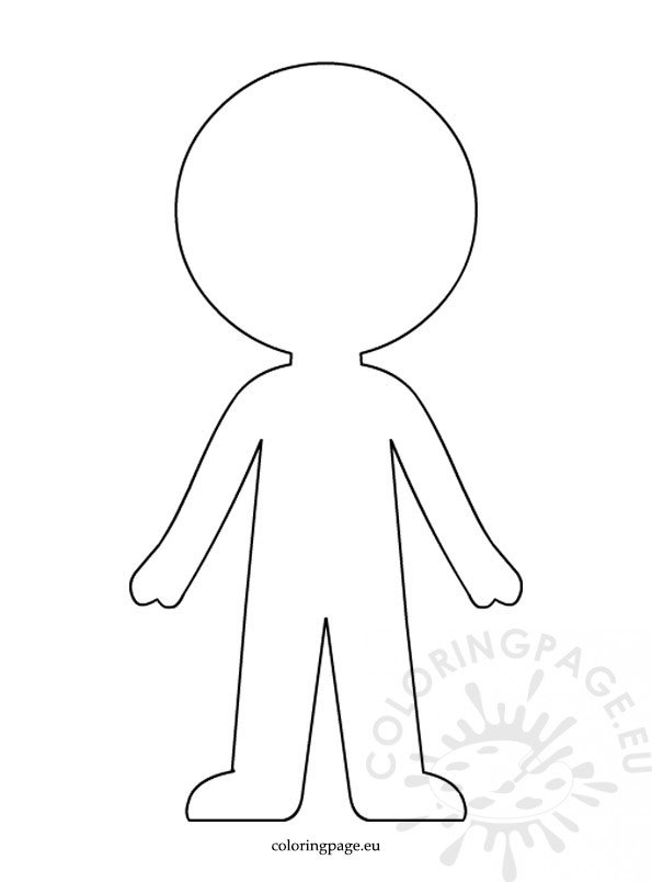 Boy paper doll template coloring page for Paper doll templates cut out